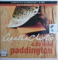 4.50 from Paddington written by Agatha Christie performed by Rosemary Leach on CD (Unabridged)