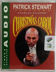 A Christmas Carol written by Charles Dickens performed by Patrick Stewart on Cassette (Abridged)