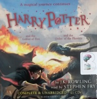 Harry Potter Collection Part 2 - Books 4 and 5 written by J.K. Rowling performed by Stephen Fry on CD (Unabridged)
