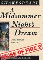 A Midsummer Night's Dream written by William Shakespeare performed by Paul Scofield, Barbara Jefford, Joy Parker and John Stride on Cassette (Unabridged)