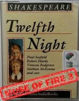 Twelfth Night written by William Shakespeare performed by Paul Scofield, Robert Hardy, Vanessa Redgrave and Siobhan McKenna on Cassette (Abridged)